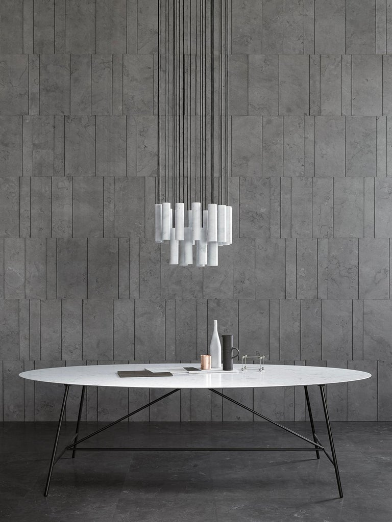 Salvatori Medium W Oval Dining Table For Sale 7