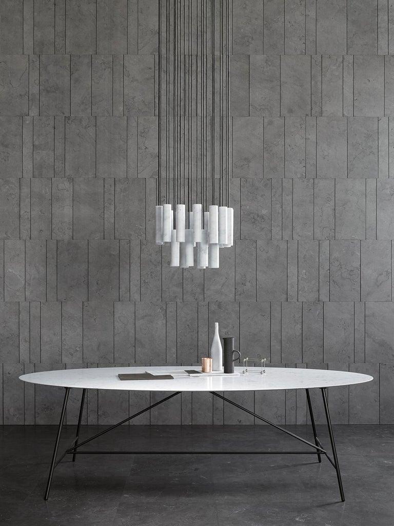 Salvatori Medium W Oval Dining Table For Sale 8