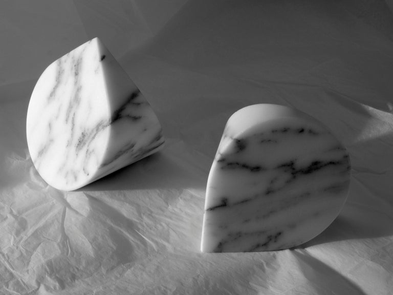 Marble Salvatori Paperweight in Arabescato Corchia Designed by Michael Anastassiades For Sale