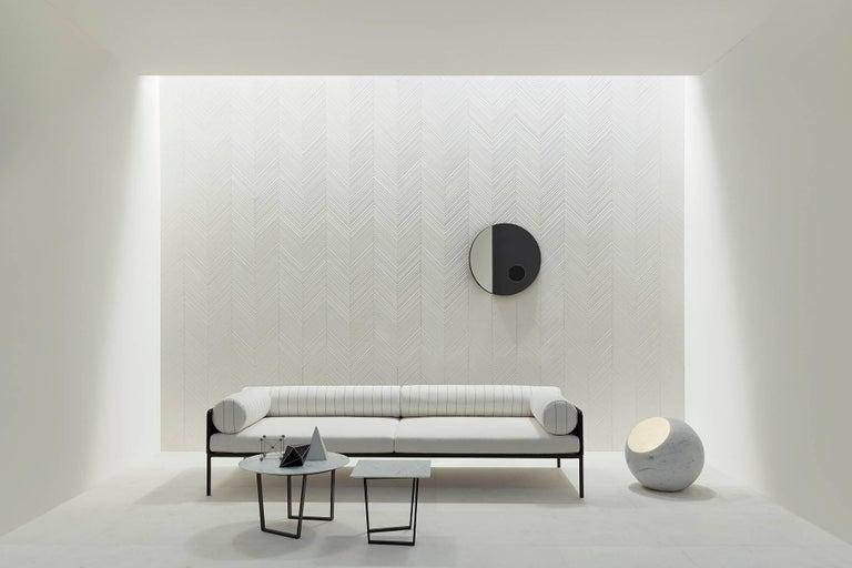 Salvatori Urano Spherical Floor Lamp 50 in Bianco Carrara Marble by Elisa Ossino For Sale 1