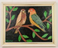 Parrots Animal  Landscape  Painting