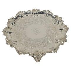 Salver or Tray, Silver, Edward, John & William Barnard, England, London, 1862