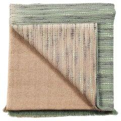Salvia Handloom Queen Coverlet / Bedspread Ombre Dyed in Merino