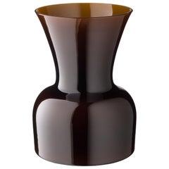 Salviati große Daisy Profili Vase in Schokolade von Anna Gili