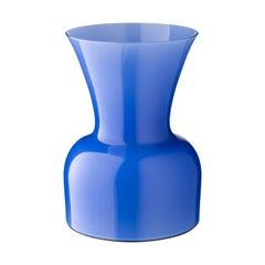 Salviati große Daisy Profili Vase in Kornblume von Anna Gili