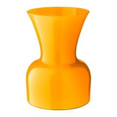Salviati große Daisy Profili Vase gelb von Anna Gili