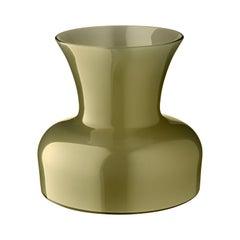 Salviati große Lilie Profili Vase in Olivgrün von Anna Gili