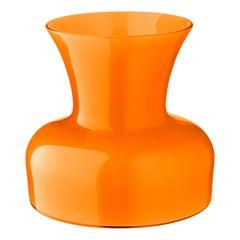 Salviati große Lilie Profili Vase in Orange von Anna Gili