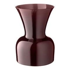 Salviati Medium Daisy Profili Vase in Aubergine von Anna Gili