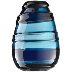 Salviati Medium Sassi Vase in Blue by Luciano Gaspari