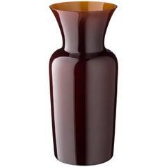 Salviati Medium Schwert Lily Profili Vase in Schokolade von Anna Gili