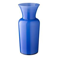 Salviati Medium Schwert Lily Profili Vase in Kornblume von Anna Gili