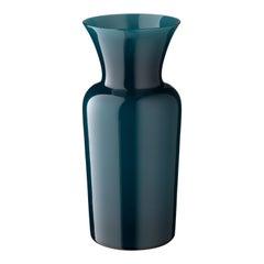 Salviati Medium Schwert Lily Profili Vase Peacock Grün von Anna Gili