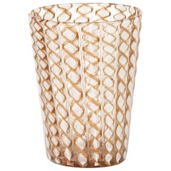 Salviati Murano Latticino Art Glass Beaker, Early 20th Century