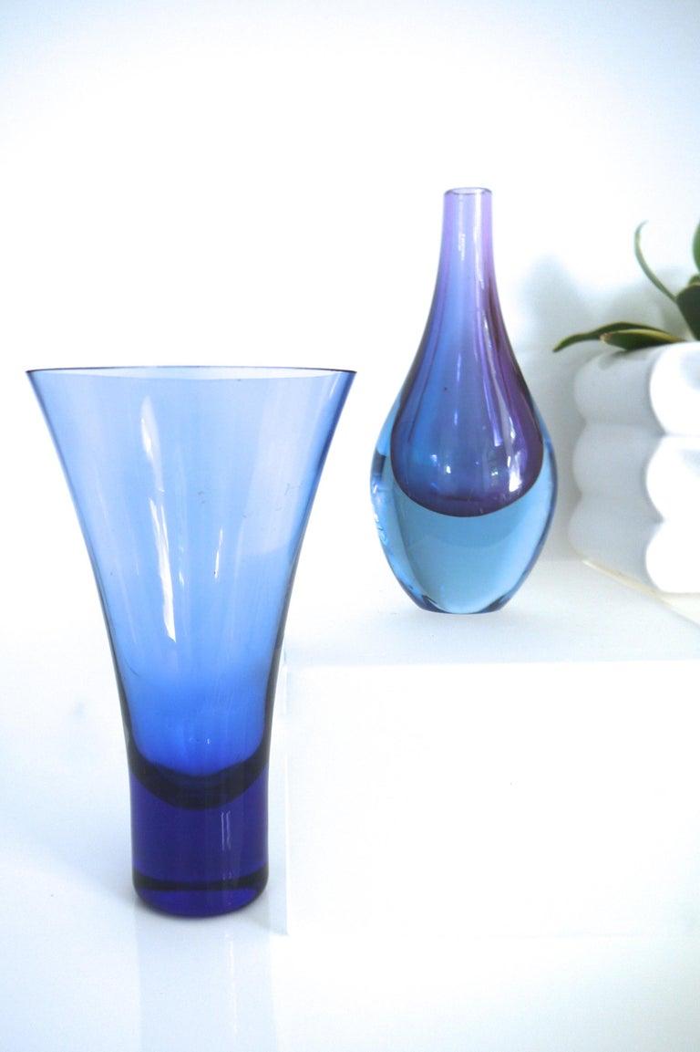 Art Glass Salviati Murano Sommerso Glass Teardrop, Mid-1960s For Sale