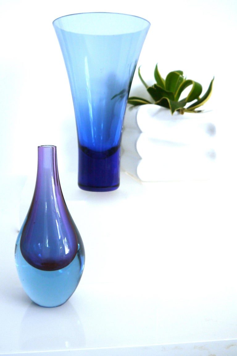 Salviati Murano Sommerso Glass Teardrop, Mid-1960s For Sale 1