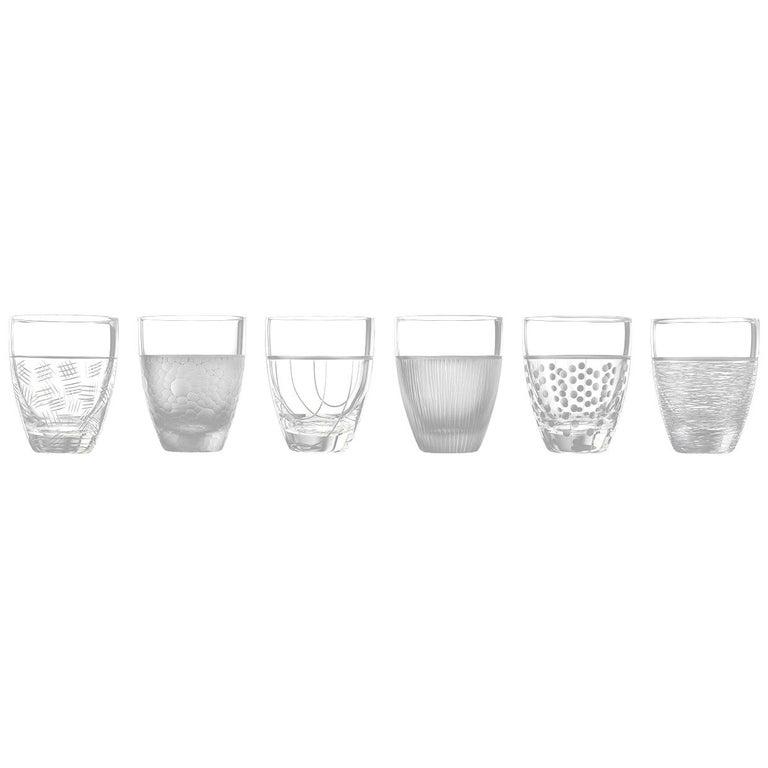 Salviati Nove Set of 6 Dof Assorted Glasses For Sale