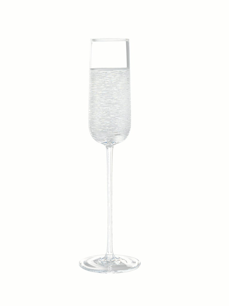 Italian Salviati Nove Set of 6 Flute Assorted Glasses For Sale