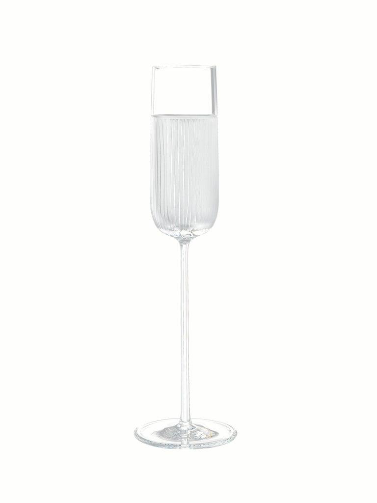 Contemporary Salviati Nove Set of 6 Flute Assorted Glasses For Sale