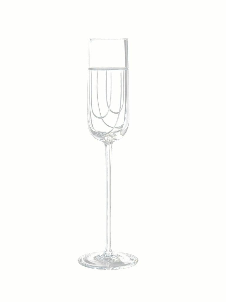 Salviati Nove Set of 6 Flute Assorted Glasses For Sale 1