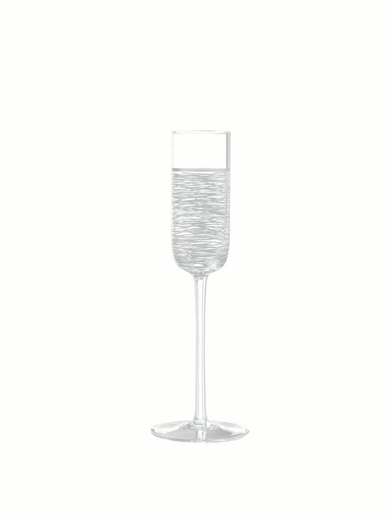 Italian Salviati Nove Set of 6 Grappa Assorted Glasses For Sale
