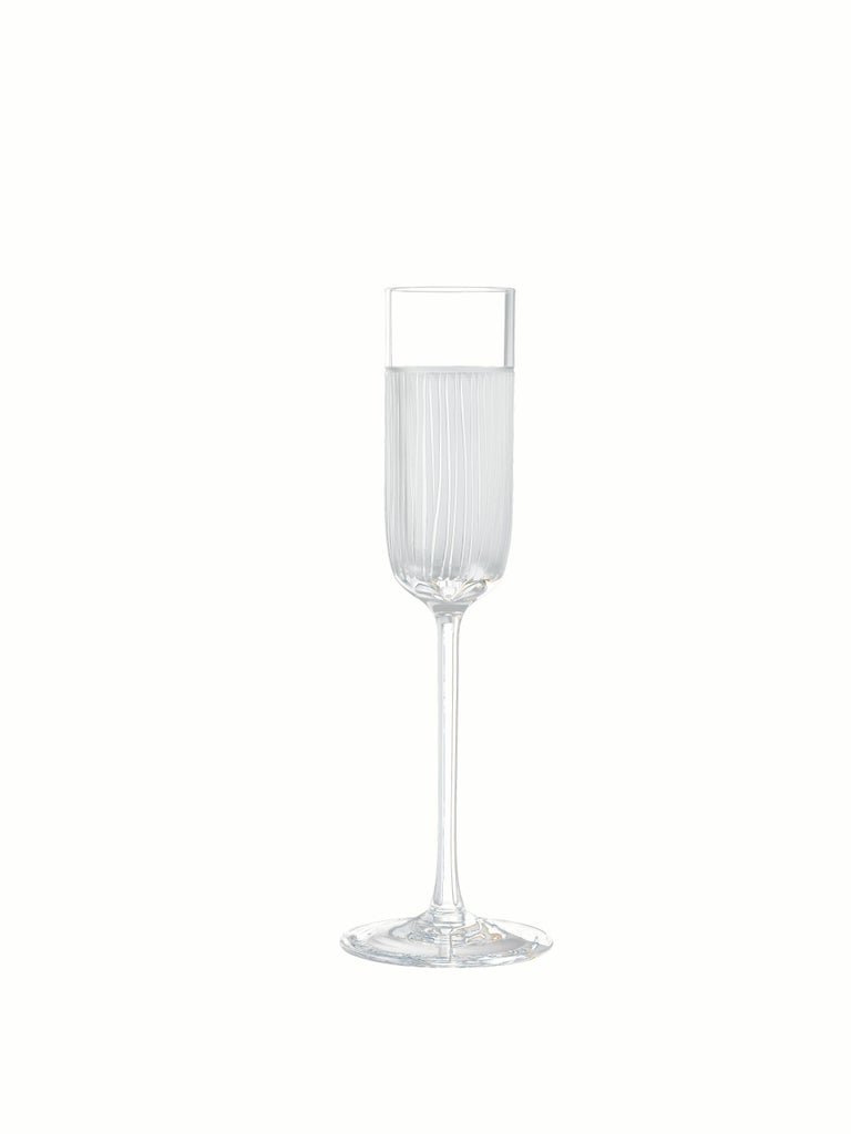 Contemporary Salviati Nove Set of 6 Grappa Assorted Glasses For Sale
