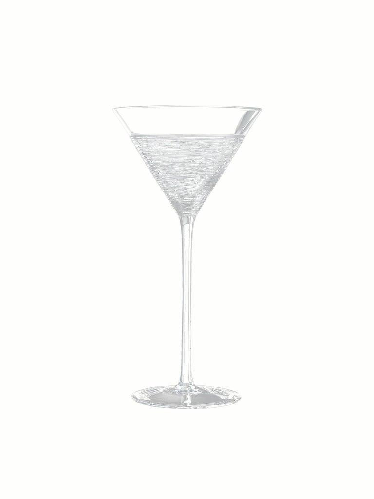 Italian Salviati Nove Set of 6 Martini Assorted Glasses For Sale