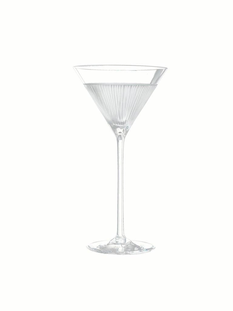 Contemporary Salviati Nove Set of 6 Martini Assorted Glasses For Sale