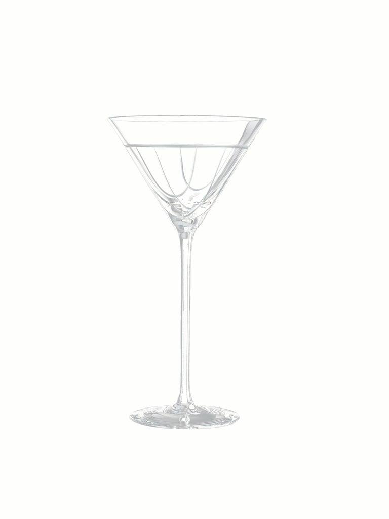 Salviati Nove Set of 6 Martini Assorted Glasses For Sale 1