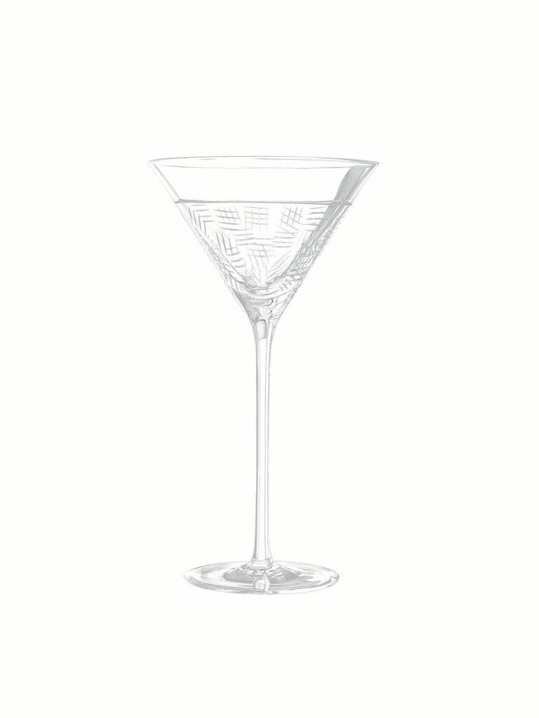Salviati Nove Set of 6 Martini Assorted Glasses For Sale 2