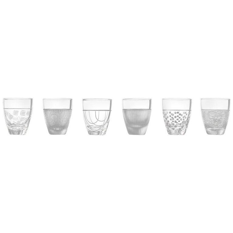 Salviati Nove Set of 6 Porto Assorted Glasses For Sale