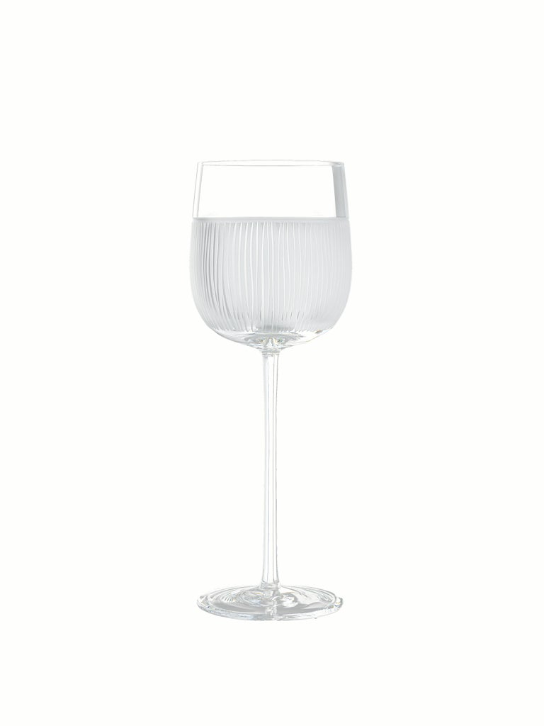 Contemporary Salviati Nove Set of 6 Water Assorted Glasses For Sale
