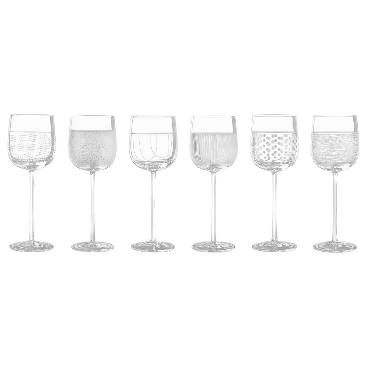 Salviati Nove Set of 6 Water Assorted Glasses