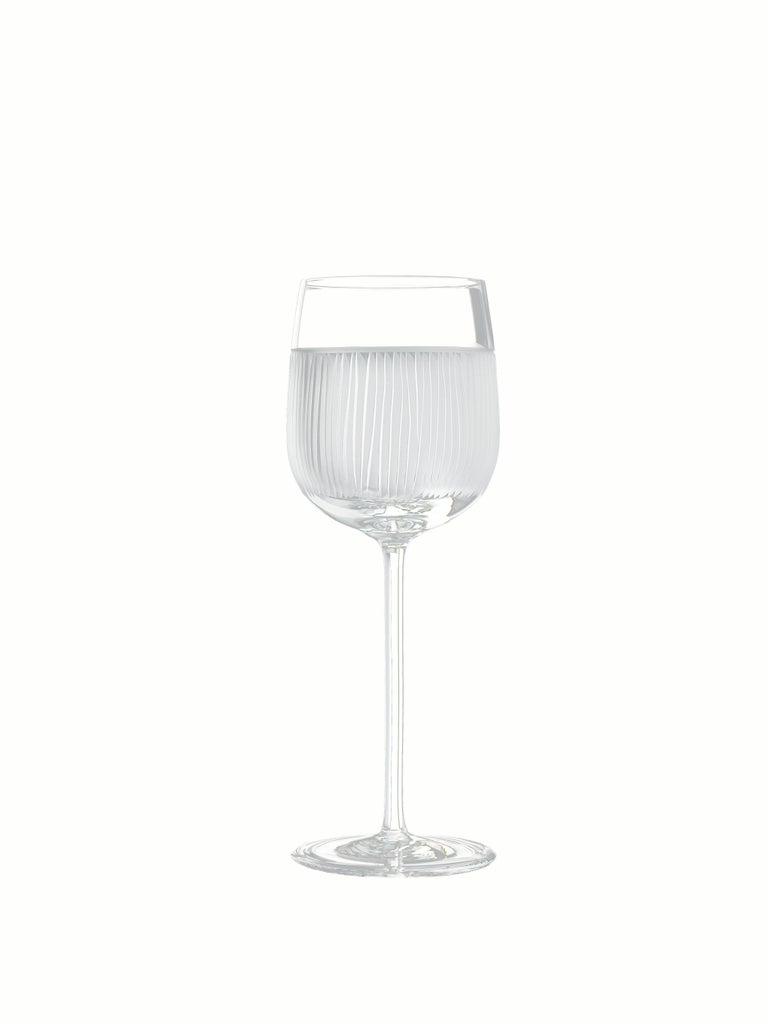 Contemporary Salviati Nove Set of 6 Wine Assorted Glasses For Sale
