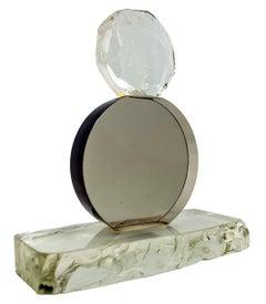 Salviati Venezia Murano Glass Abstract Sculpture Rough and Smooth