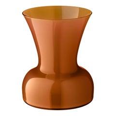 Salviati kleine Lilie Profili Vase in Haselnuss von Anna Gili