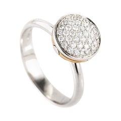 Salvini 18 Karat White and Rose Gold 0.28 ct Diamond Ring