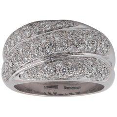 Salvini Damiani Diamond Gold Wide Band Ring