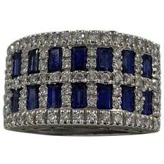 Salvini Ring in 18 Karat Gold Sapphires '2.09 Carat' and Diamond '0.56 Carat'