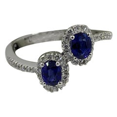 Salvini Ring in 18 Karat White Gold with Sapphires and Diamonds