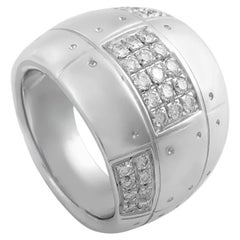 Salvini Wide 18 Karat White Gold Diamond Band Ring