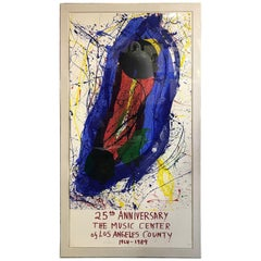 Sam Francis Large Limited Edition Signed 11 Color Modern Abstract Screenprint