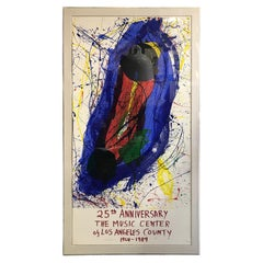 Sam Francis Large Limited Edition Signed Eleven Color Screenprint