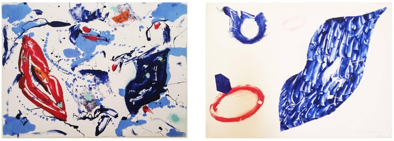 Untitled 1 & 2 monotypes (from the Baby Lips Series)