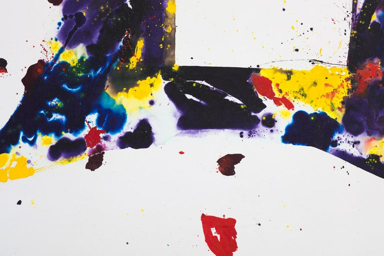 A Whirling Square - Painting by Sam Francis