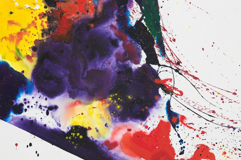 A Whirling Square - Post-War Painting by Sam Francis