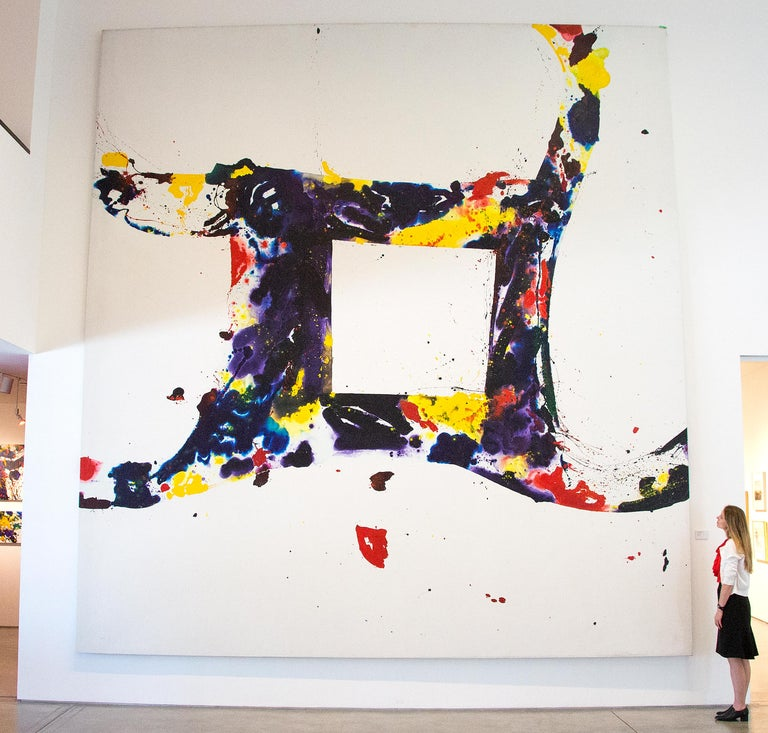 Sam Francis Abstract Painting - A Whirling Square