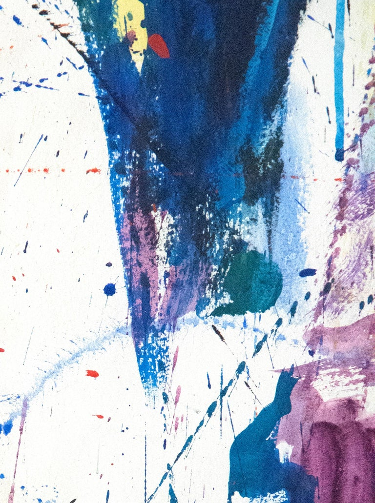 New York, New York - Gray Abstract Painting by Sam Francis