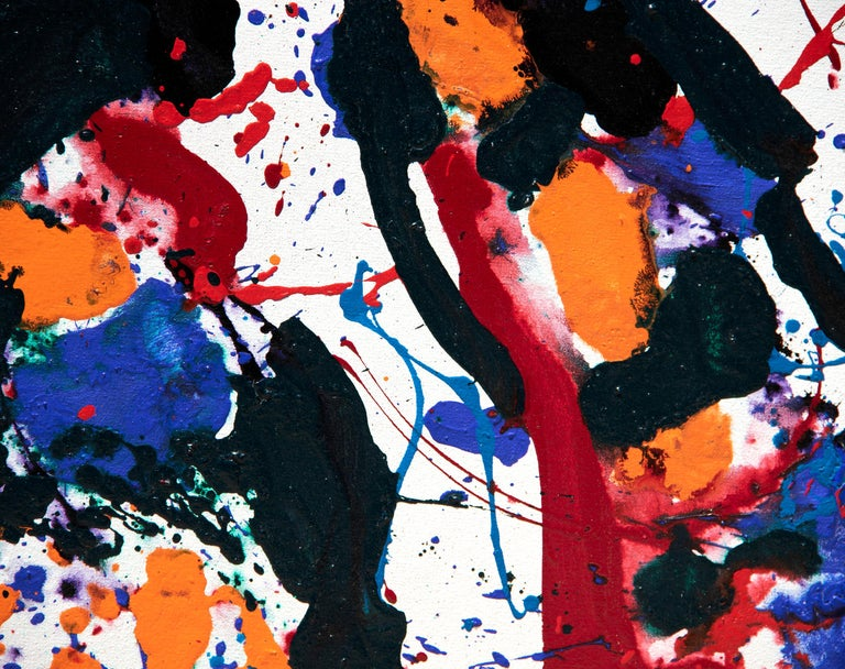 Untitled 1985, San Leandro - Painting by Sam Francis