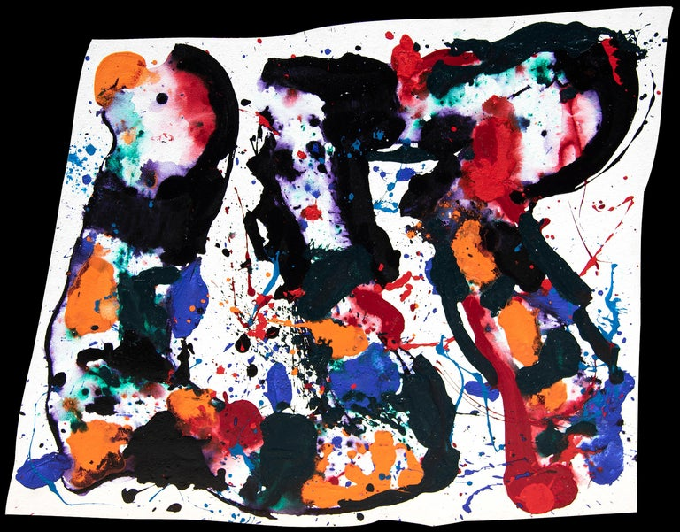 Sam Francis Abstract Painting - Untitled 1985, San Leandro